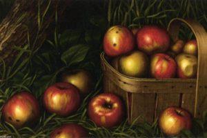 """""""Collita de pomes"""", pintura de Levi Wells Prentice"""