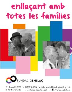 Anuncio de la Fundació Enllaç en el programa del Pride BCN 2019